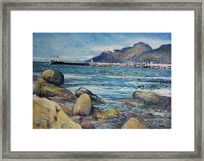 Lighthouse At Kalk Bay Cape Town South Africa 2016 Framed Print