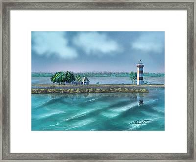 Lighthouse At Lake Conroe Framed Print