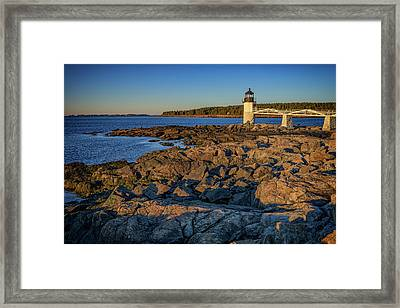 Lighthouse At Marshall Point Framed Print