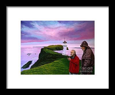 Raincoat Framed Prints
