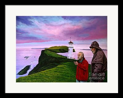 Norwegian Lighthouse Framed Prints