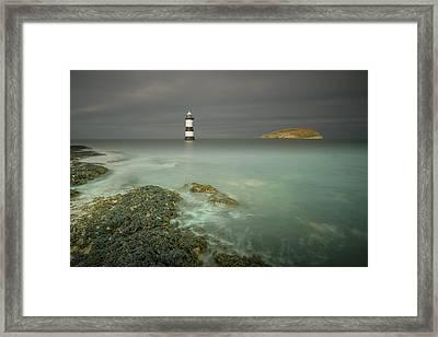 Lighthouse At Penmon Point Framed Print