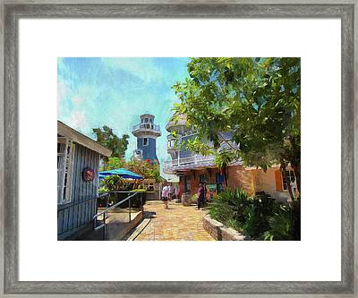 Lighthouse At Seaport Village Framed Print