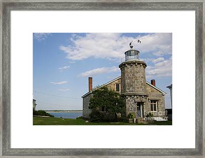 Lighthouse At Stonington Ct Framed Print by Margie Avellino