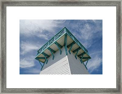 Framed Print featuring the photograph Lighthouse At Summerside Seaside Market. by Rob Huntley