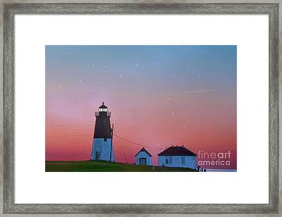 Framed Print featuring the photograph  Lighthouse At Sunrise by Juli Scalzi