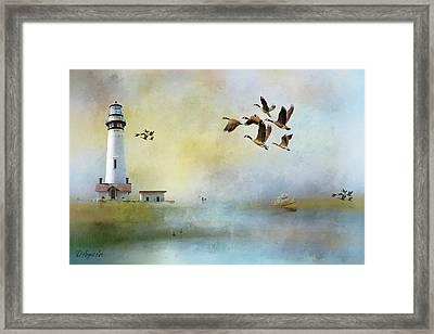 Lighthouse Bay Framed Print