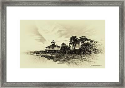 Lighthouse Boca Grande Framed Print by Marvin Spates