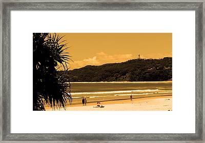 Lighthouse Byron Bay Framed Print by Edan Chapman