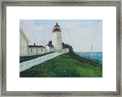 Lighthouse Calm Framed Print