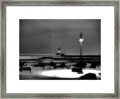 Lighthouse Canal Park Framed Print