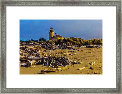 Lighthouse Coquille River Framed Print