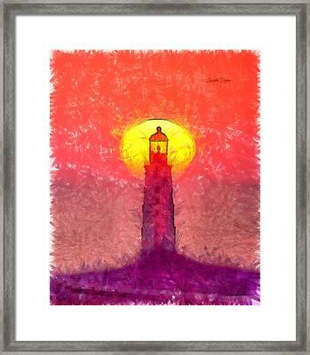 Lighthouse - Da Framed Print by Leonardo Digenio