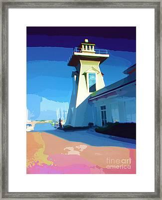 Lighthouse Framed Print by Deborah MacQuarrie-Selib
