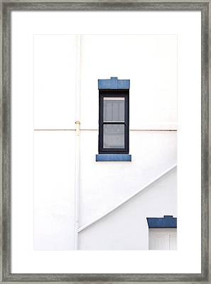 Lighthouse Door Window Detail Abstract Framed Print