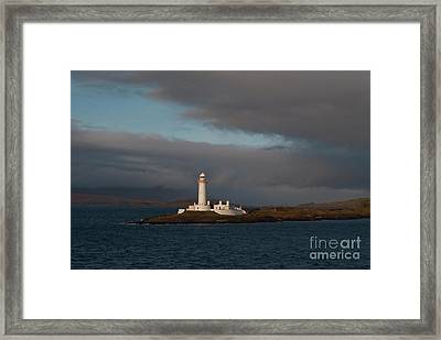 Lighthouse Eilean Musdile Scotland Framed Print by Atlas Photo Archive