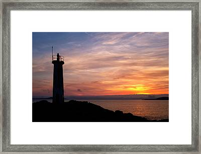 Framed Print featuring the photograph Lighthouse by Fabrizio Troiani
