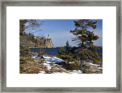 Framed Print featuring the photograph Lighthouse Framed by Larry Ricker