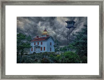 Lighthouse Greetings Framed Print