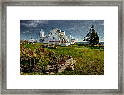 Lighthouse Home Framed Print