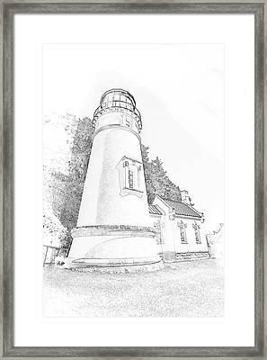 Lighthouse In Oregon Framed Print