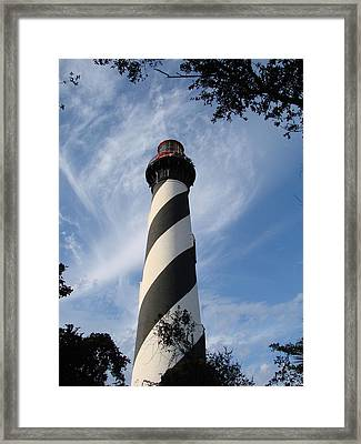 Lighthouse In St. Augustine Framed Print by Kimberly Camacho
