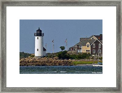 Lighthouse In The Ipswich Bay Framed Print