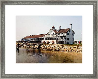 Framed Print featuring the photograph Lighthouse Inn At Bass River by Frederic Kohli