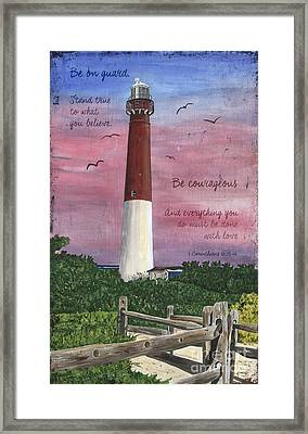 Lighthouse Inspirational Framed Print