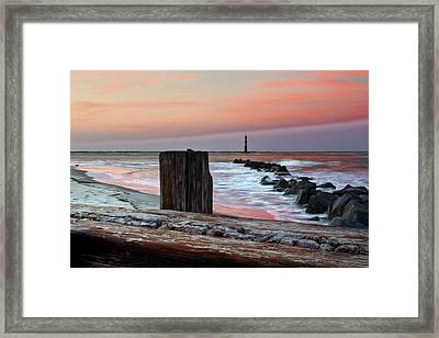 Lighthouse Jetties Framed Print by Drew Castelhano