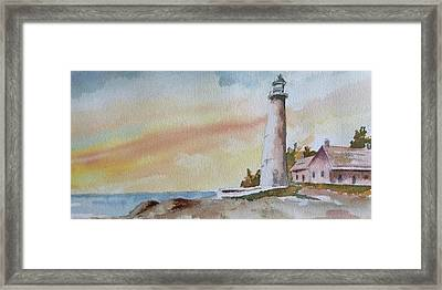 Lighthouse Framed Print by Jim Stovall