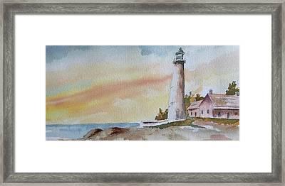 Lighthouse Framed Print by Jim Stovall