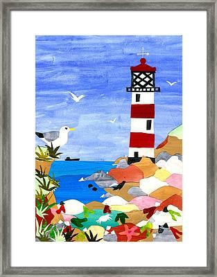 Lighthouse Framed Print by Judy Adamson