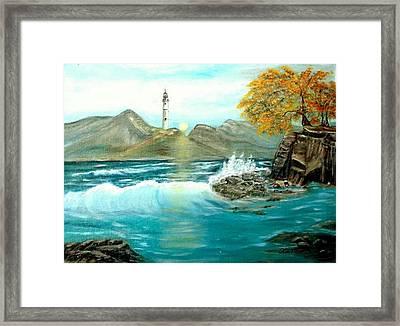 Lighthouse Framed Print by Kenneth LePoidevin