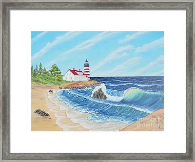 Lighthouse Life Framed Print