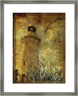 Framed Print featuring the digital art Lighthouse by Margaret Hormann Bfa