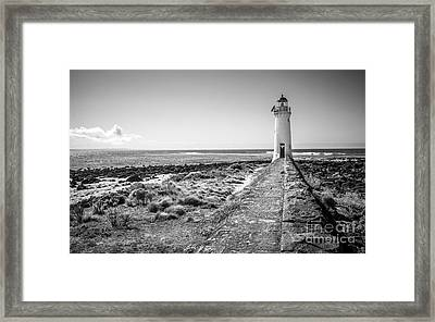 Lighthouse Morning Framed Print