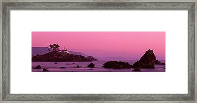 Lighthouse On A Cliff, Crescent City Framed Print by Panoramic Images