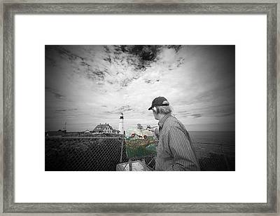Lighthouse Painter Framed Print
