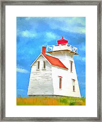 Lighthouse Painting Framed Print