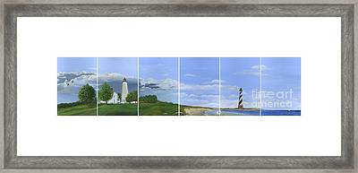 Lighthouse Panels Framed Print