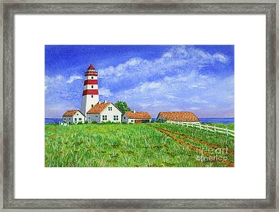Lighthouse Pasture Framed Print
