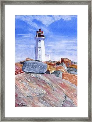 Lighthouse Peggys Cove Framed Print