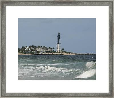 Lighthouse Point Fl. Framed Print by Dennis Curry
