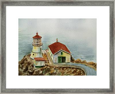 Lighthouse Point Reyes California Framed Print by Irina Sztukowski