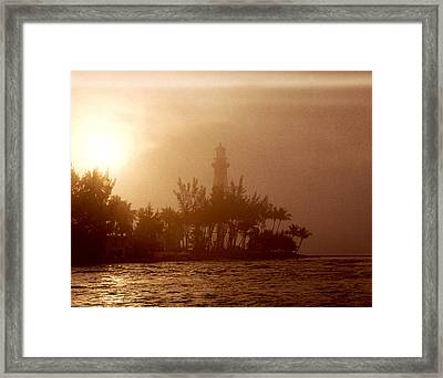 Lighthouse Point Sunrise Framed Print by Brent L Ander