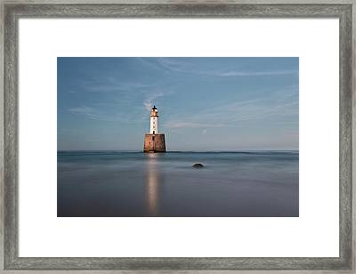 Framed Print featuring the photograph Lighthouse Twilight by Grant Glendinning