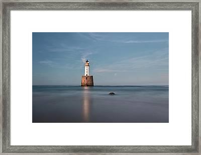 Lighthouse Twilight Framed Print