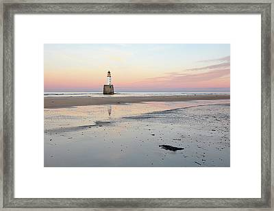 Lighthouse Sunset - Rattray Head Framed Print
