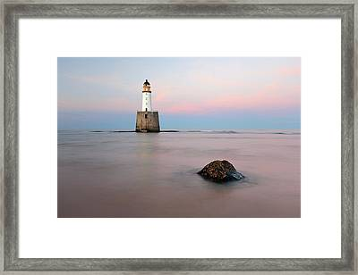 Framed Print featuring the photograph Lighthouse Rattray by Grant Glendinning